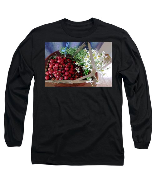 Long Sleeve T-Shirt featuring the photograph Summer Basket by Vicky Tarcau