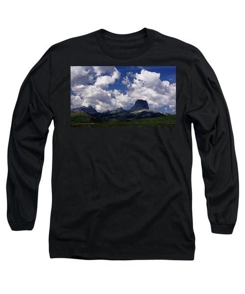 Summer Day At Chief Mountain Long Sleeve T-Shirt