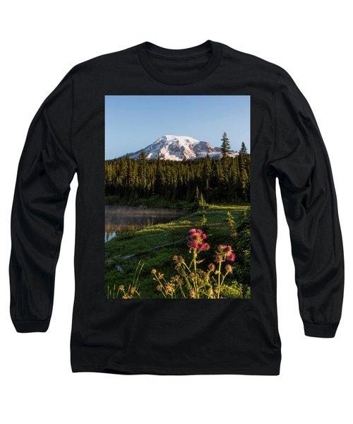 Summer Morning At Mt Rainier Long Sleeve T-Shirt