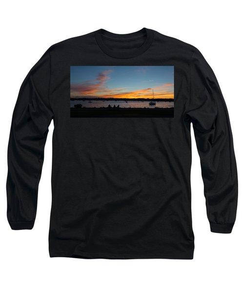 Summer Sunset With Friends Long Sleeve T-Shirt