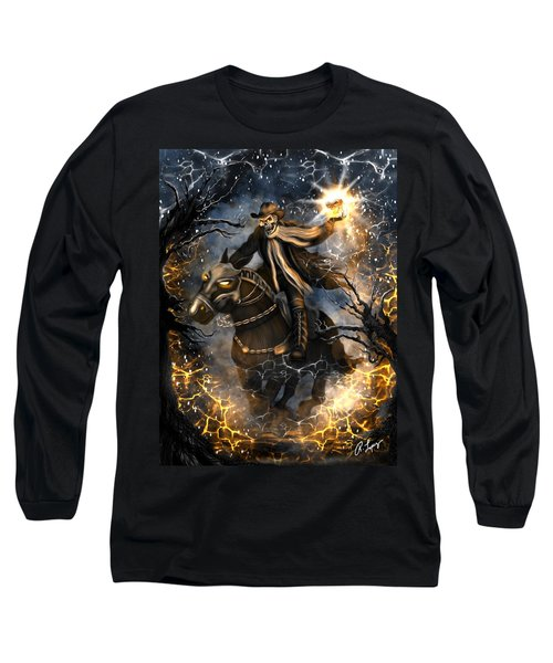 Long Sleeve T-Shirt featuring the painting Summoned Skull Fantasy Art by Raphael Lopez