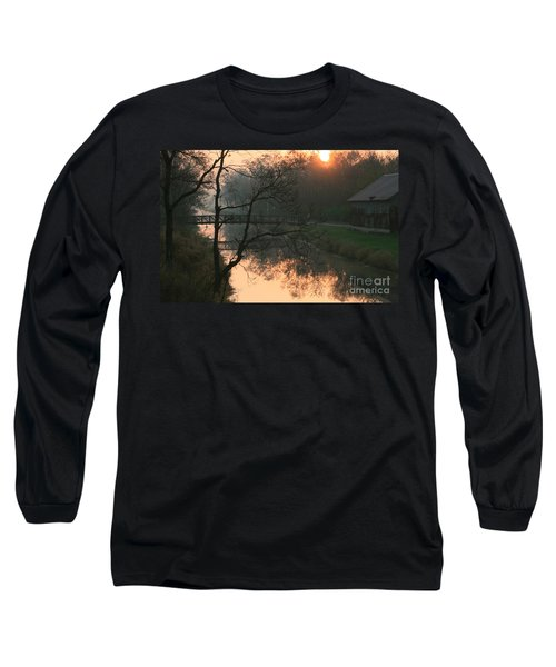 Long Sleeve T-Shirt featuring the photograph Sun Above The Trees by Paula Guttilla