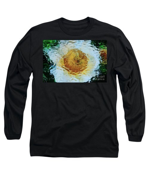 Sun And Moon Peony Impression Long Sleeve T-Shirt