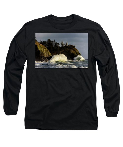 Sun And Surf With Lighthouse Long Sleeve T-Shirt