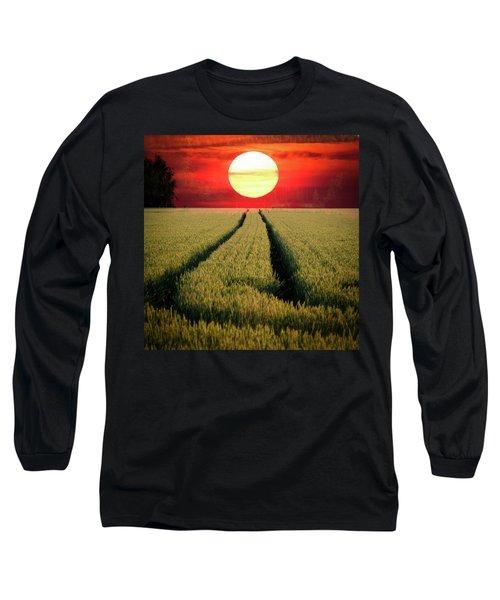 Sun Burn Long Sleeve T-Shirt by Teemu Tretjakov