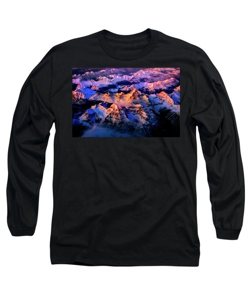 Long Sleeve T-Shirt featuring the photograph Sun Catcher - Assiniboine by John Poon