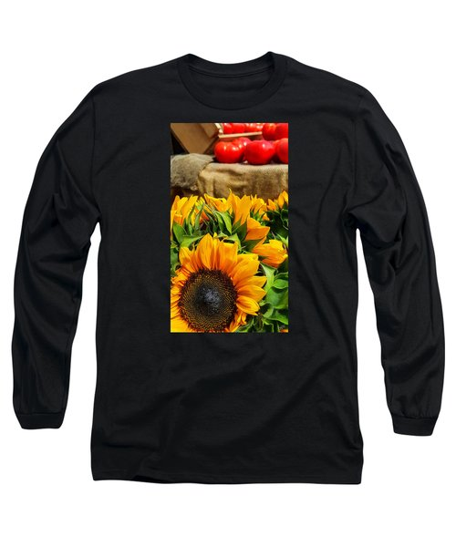 Long Sleeve T-Shirt featuring the photograph Sun Flowers And Tomatoes by Bruce Carpenter