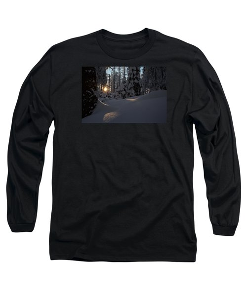 Sunburst In Winter Fairytale Forest Harz Long Sleeve T-Shirt by Andreas Levi