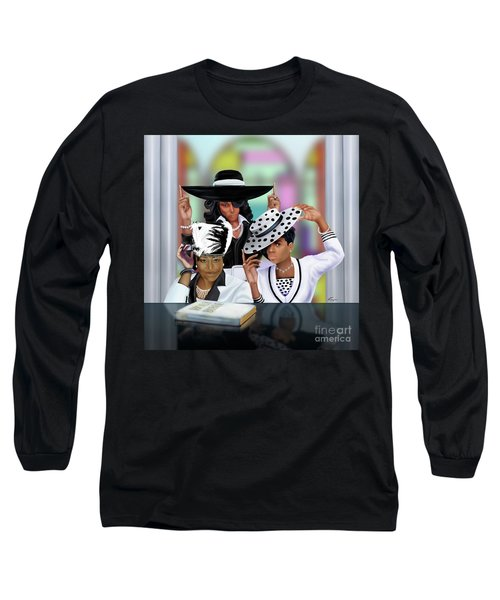 Sunday Morning Getting Right For Jesus Long Sleeve T-Shirt