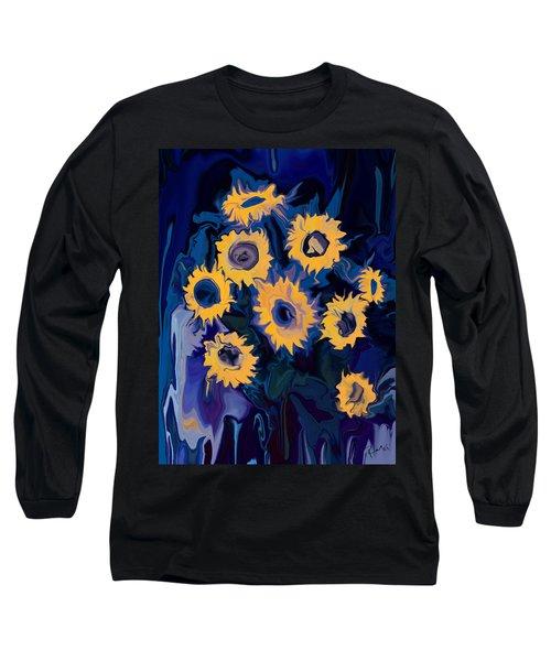 Long Sleeve T-Shirt featuring the digital art Sunflower 1 by Rabi Khan