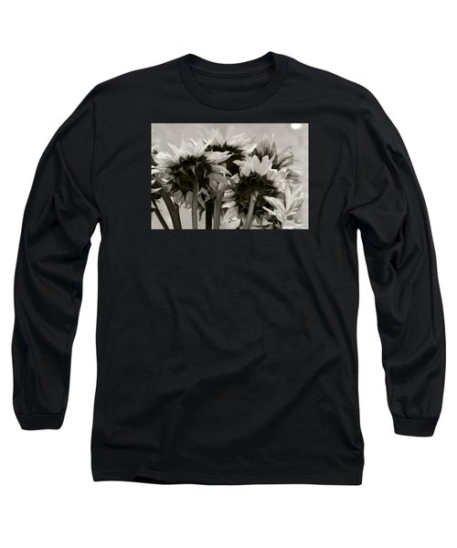 Sunflower 3 Long Sleeve T-Shirt by Simone Ochrym