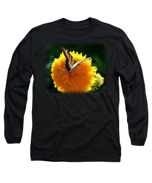 Swallowtail On Sunflower Long Sleeve T-Shirt