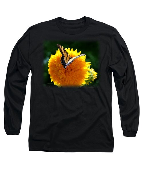 Swallowtail On Sunflower Long Sleeve T-Shirt