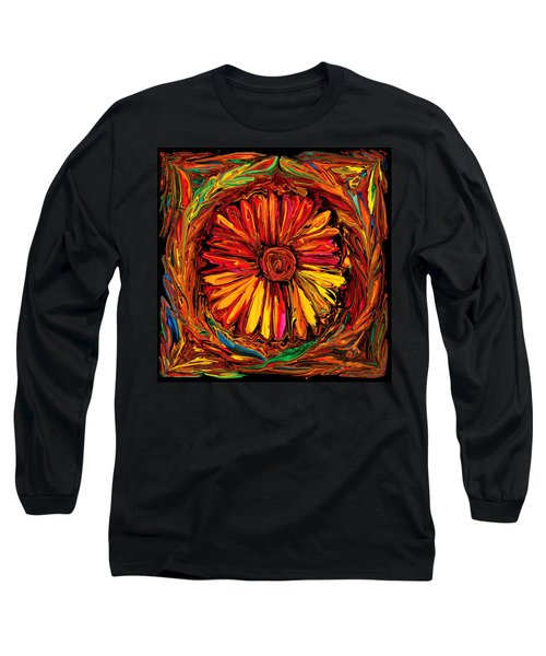 Sunflower Emblem Long Sleeve T-Shirt
