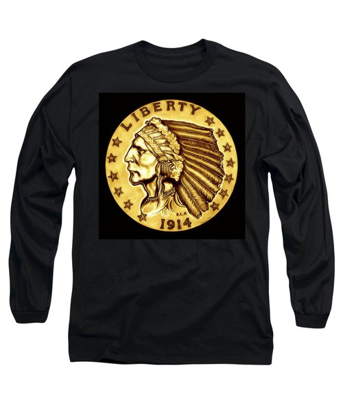 Sunflower Gold Quarter Eagle Long Sleeve T-Shirt by Fred Larucci