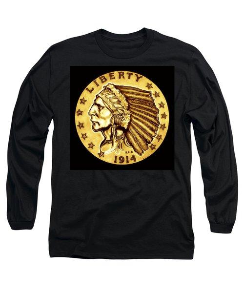 Sunflower Gold Quarter Eagle Long Sleeve T-Shirt