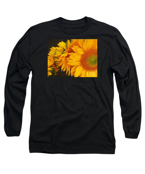 Sunflowers Train Long Sleeve T-Shirt