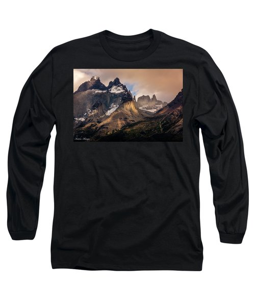 Sunlight On The Mountain Long Sleeve T-Shirt by Andrew Matwijec