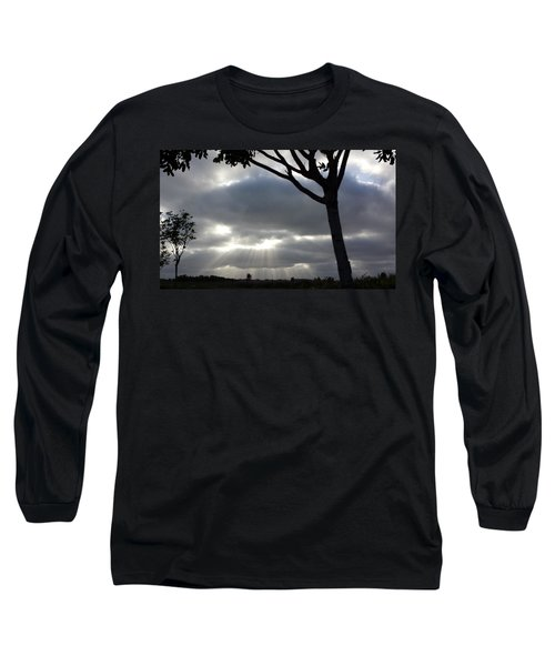 Sunlit Gray Clouds At Otay Ranch Long Sleeve T-Shirt