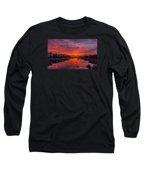 Sunlit Sky Over Morgan Creek -  Wild Dunes On The Isle Of Palms Long Sleeve T-Shirt