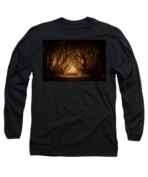 Long Sleeve T-Shirt featuring the photograph Sunny Morning In Dark Hedges by Jaroslaw Blaminsky
