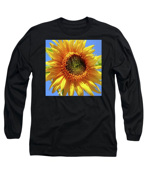Sunny Sunflower Square Long Sleeve T-Shirt