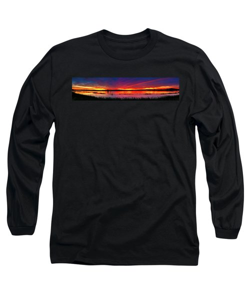 Sunrise At Bosque Del Apache Long Sleeve T-Shirt