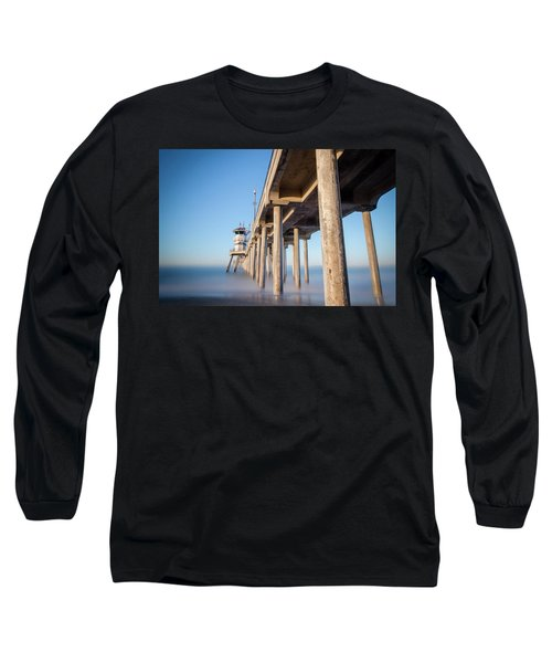 Long Sleeve T-Shirt featuring the photograph Sunrise At Huntington Beach Pier by Sean Foster