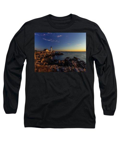 Sunrise At Portland Headlight Long Sleeve T-Shirt