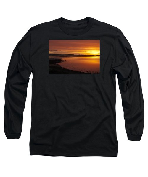 Long Sleeve T-Shirt featuring the photograph Sunrise Dornoch Firth Scotland by Sally Ross