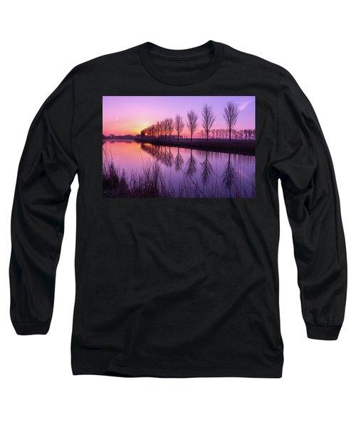 Sunrise In Holland Long Sleeve T-Shirt