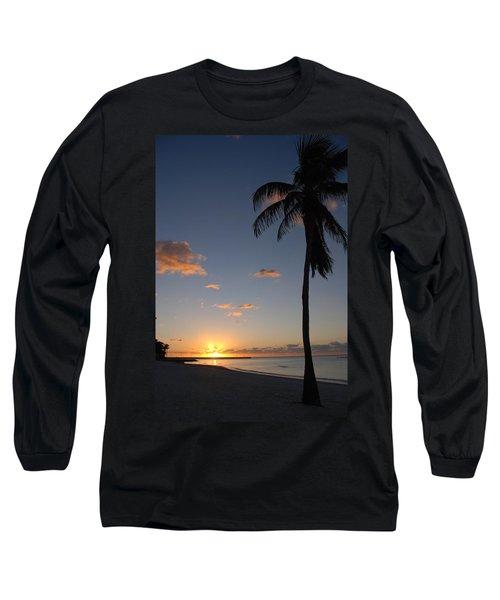 Sunrise In Key West 2 Long Sleeve T-Shirt by Susanne Van Hulst