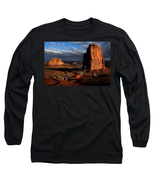 Long Sleeve T-Shirt featuring the photograph Sunrise La Sal Mountains by Harry Spitz