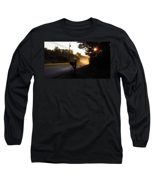 Sunrise On A Country Road Long Sleeve T-Shirt