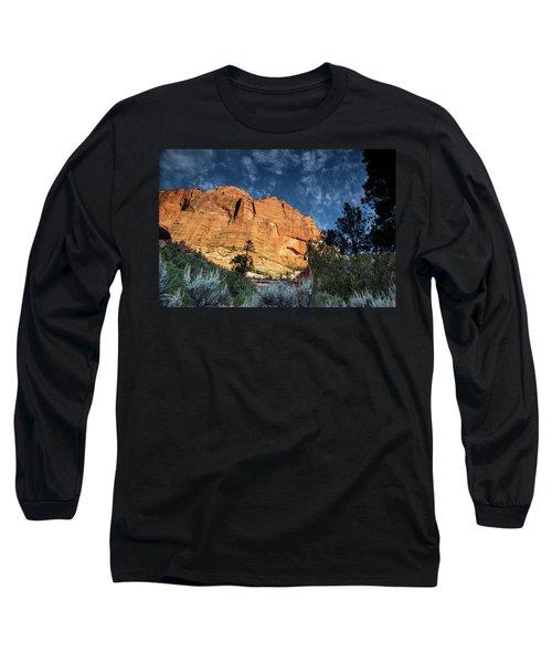 Sunrise On Kolob Arch Trail Long Sleeve T-Shirt