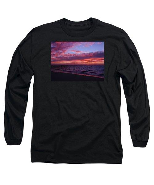 Long Sleeve T-Shirt featuring the photograph Sunrise On Sanibel Island by Melinda Saminski
