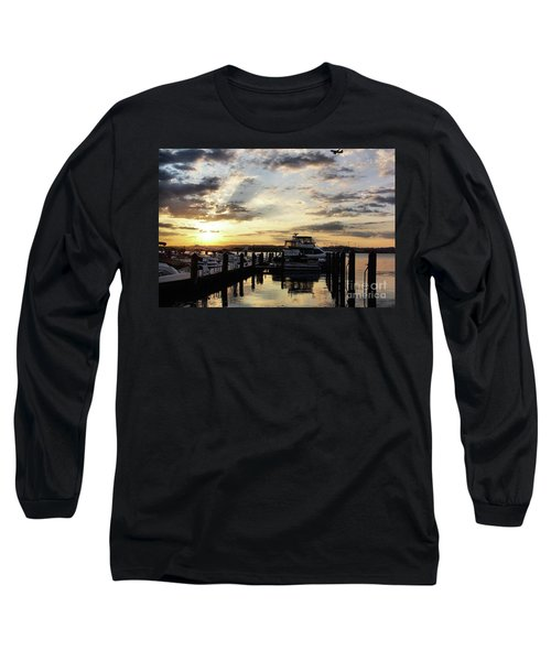 Sunrise On The Alexandria Waterfront Long Sleeve T-Shirt