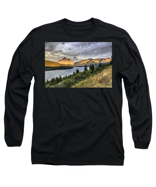 Sunrise On The Bitterroot River Long Sleeve T-Shirt by Alan Toepfer