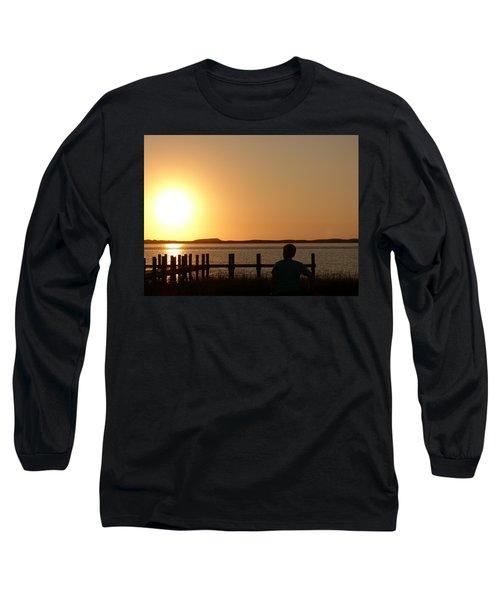 Sunrise Over Assateaque Long Sleeve T-Shirt by Donald C Morgan