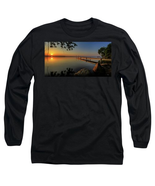 Sunrise Over Cayuga Lake Long Sleeve T-Shirt