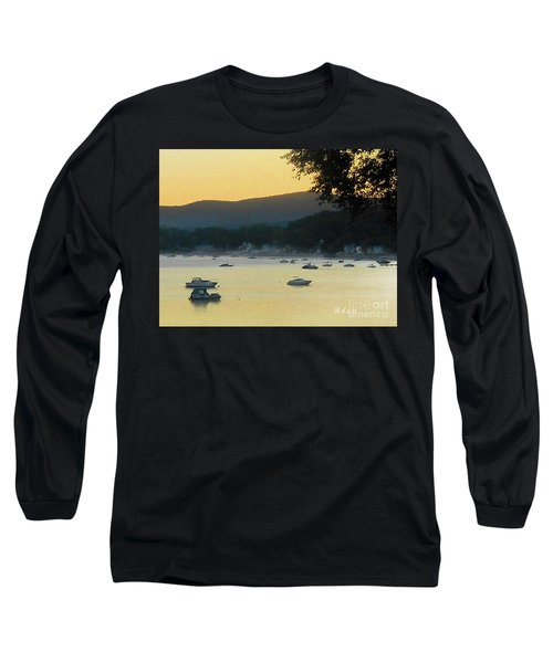 Sunrise Over Malletts Bay Panorama - Nine V2 Detail Long Sleeve T-Shirt by Felipe Adan Lerma