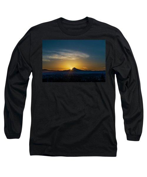 Sunrise Over Mt. Hood Long Sleeve T-Shirt