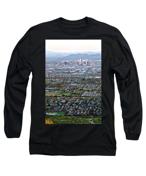 Sunrise Over Phoenix Arizona Long Sleeve T-Shirt