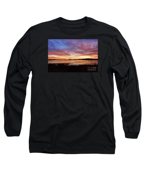 Long Sleeve T-Shirt featuring the photograph Sunrise Over The Marsh by Larry Ricker