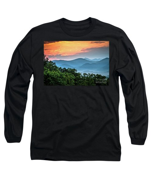 Long Sleeve T-Shirt featuring the photograph Sunrise Over The Smoky's by Douglas Stucky