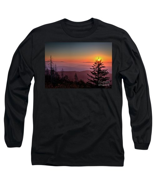 Long Sleeve T-Shirt featuring the photograph Sunrise Over The Smoky's IIi by Douglas Stucky