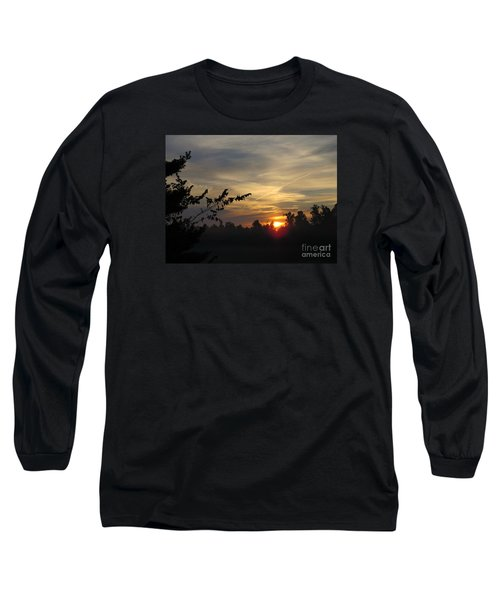 Sunrise Over The Trees Long Sleeve T-Shirt by Craig Walters