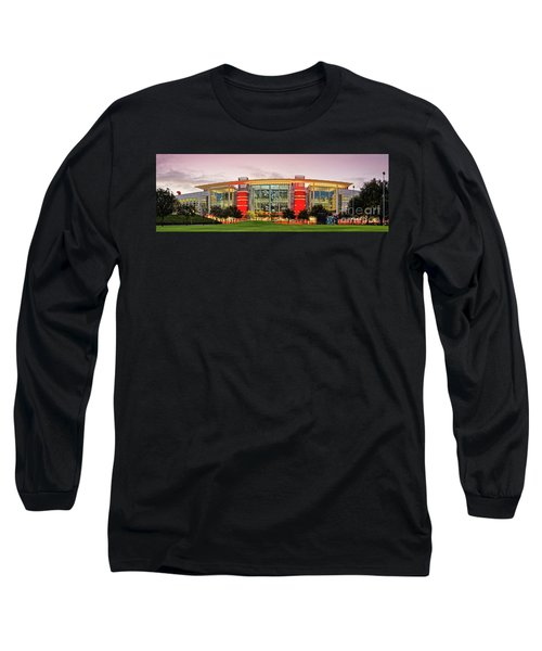 Sunrise Panorama Of George R Brown Convention Center In Downtown Houston - Texas Long Sleeve T-Shirt