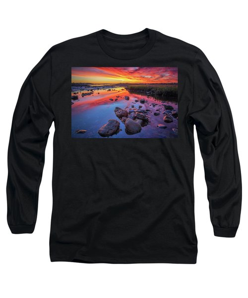 Sunrise Reflections In Harpswell Long Sleeve T-Shirt