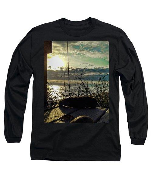 Sunrise Sea Shells Long Sleeve T-Shirt by Josy Cue